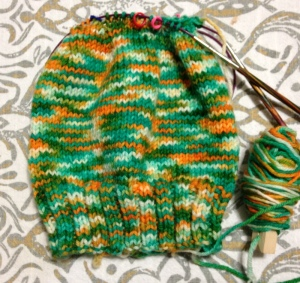 Made this pattern up since i have such an issue with gauge. Yarn: Aquaman-Gnomeacres
